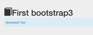 bootstrap first